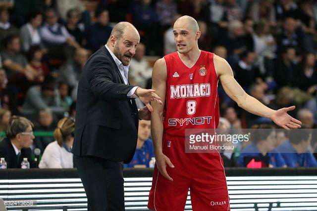 """Звездан Мітрович (головний тренер """"AS Monaco Basket"""") і Сергій Гладир"""